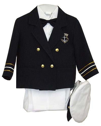 Amazon.com: Azul marino Baby Boy traje de Capitán Marinero ...