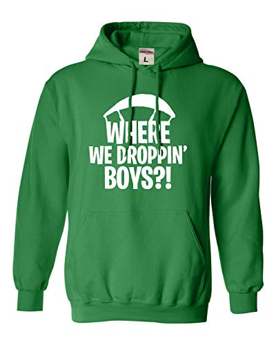 (Go All Out X-Large Irish Green Adult Where We Droppin' Boys Sweatshirt Hoodie )