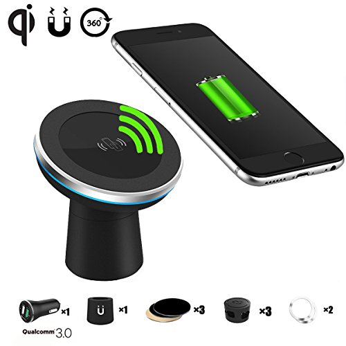 Qi Wireless Car Charger Spedal 2-in-1 Magnetic...