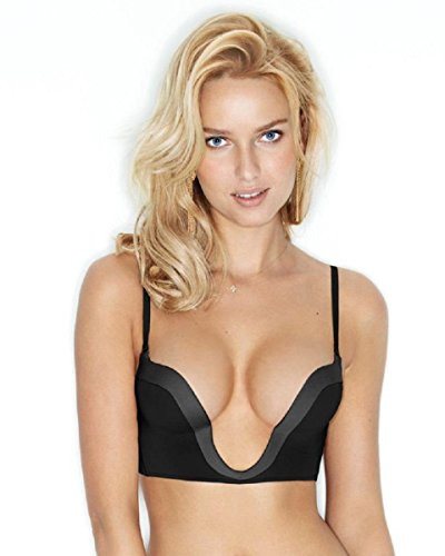 (WONDERBRA Womens Perfect Plunge Bra Black Size US 32C FR 85C)