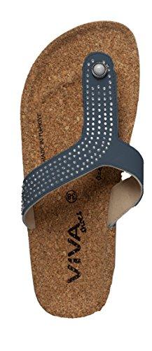 Viva shoes - Sandalias de Material Sintético para mujer Azul