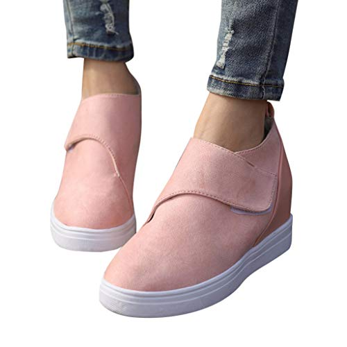 Loafers for Women Comfort Discount,melupa Ladies Fashion Casual Solid Round Toe Increasing Wedge Shoes Short Boots