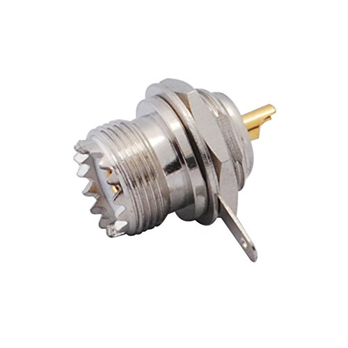 RF Coaxial Connector in Series UHF PL-259 Front Moun With PCB for Controllers HD Video Broadcast Applications HDTV Monitors Monitors Professional Cameras Recorders Servers (Uhf Coaxial Jack)