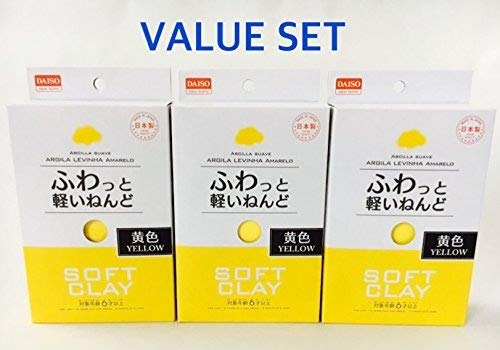 Yellow Soft Clay (Soft clay Pack of 3 (1, Yellow))