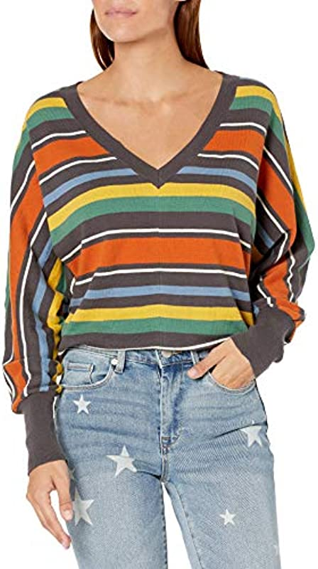 RVCA Męskie Carter V Neck Sweater Pullover: Odzież