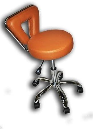 Spa Pedicure Chair Stool for Nail, Hair, Facial Technitian (Tall, Black) TNS