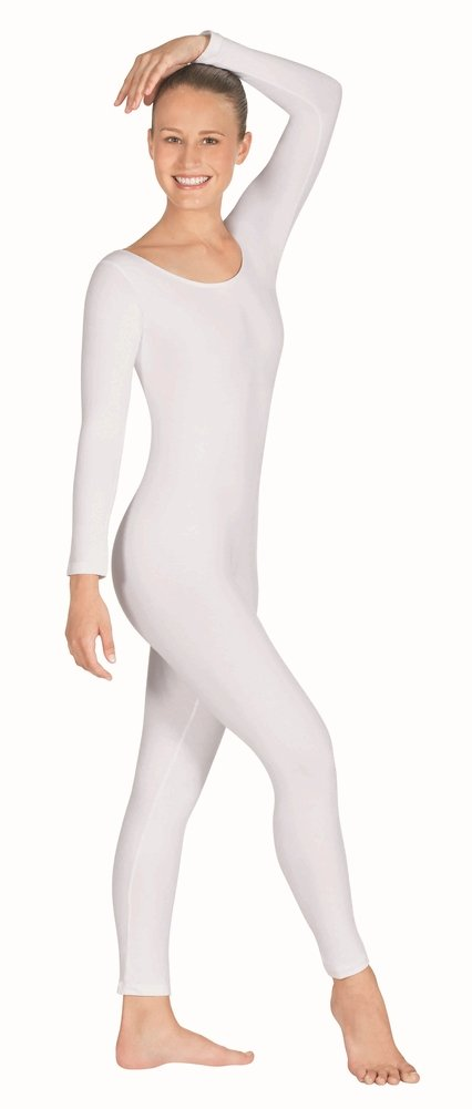 Eurotard 10129 Long Sleeve Unitard (White, 2X) by Eurotard