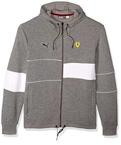 PUMA Men's Scuderia Ferrari Hooded Jacket, Medium Gray Heather, ()