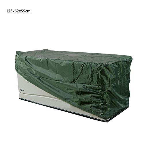 Taimot 210D Silver Coated Oxford Cloth Patio Deck Box Cover Patio Cushion Cover Storage Bag Waterproof Outdoor Storage Container Cover for All Season Large Deck Boxes Protection (Oxford Garden Cushions)