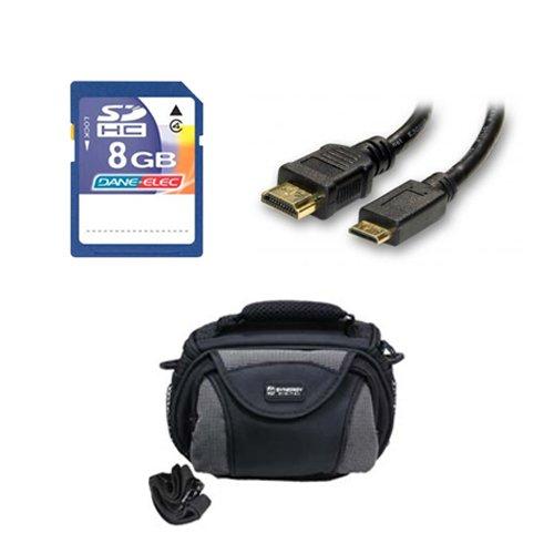 Panasonic HC-V750K Camcorder Accessory Kit includes: KSD48GB Memory Card, SDC-26 Case, HDMI6FM AV & HDMI Cable by Synergy Digital