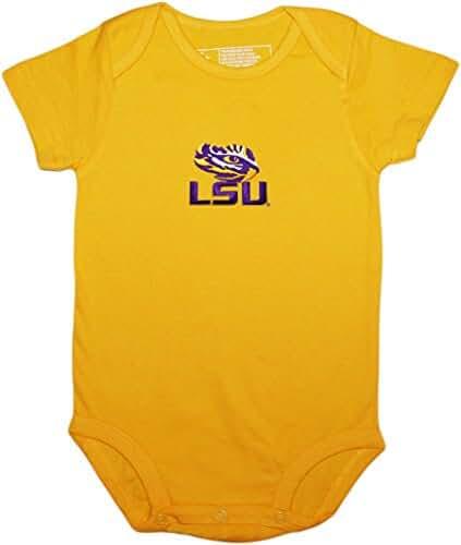 LSU Lousiana State University Tigers Newborn Baby Bodysuit