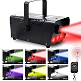 Best Fog Machines - ATDAWN Fog Machine with Lights, Wireless Remote Control Review