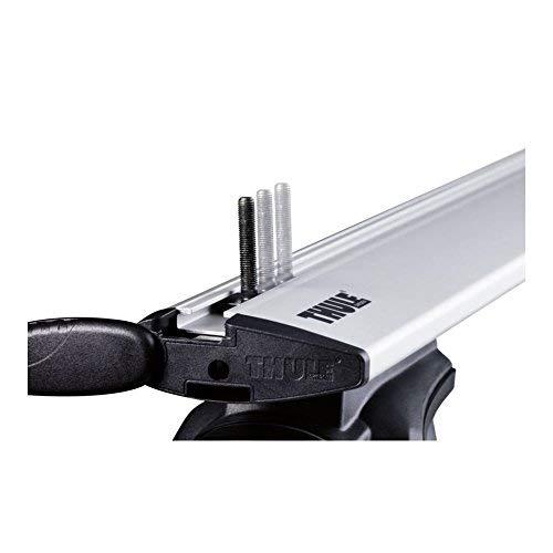 Thule 696400 Adattatore Fissaggio Box su Canaline a T, 24 x 30 mm, Set di 4