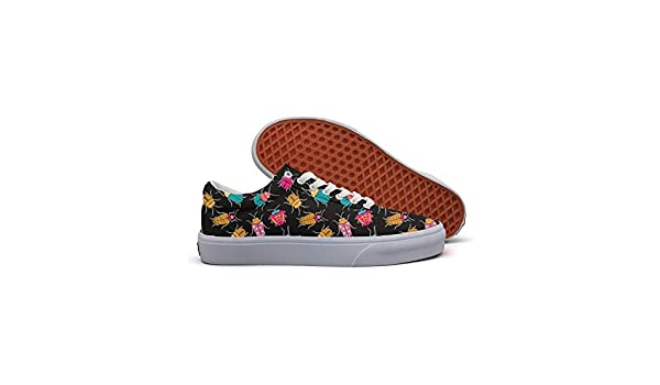 Colorful Funny Bugs Casual Shoes Flat Lo-Top Nursing Gym