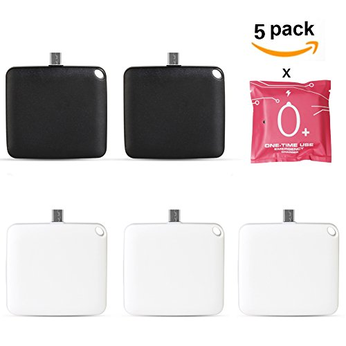 AOREAL Aireline Supported One Time Use Disposable Powerbank, Emergency Fashion Slim Mini Powerbank ABS Shell(random Color) (Android 1000mAh pack of 5)