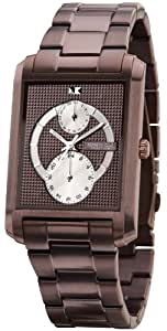 Kenneth Cole BRUIN DAG KC3787 - Reloj de caballero de cuarzo, correa de acero inoxidable color marrón