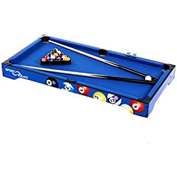 Amazon hathaway sharp shooter pool table blue 40 inch sport squad bx40 40 billiard table top table keyboard keysfo Image collections