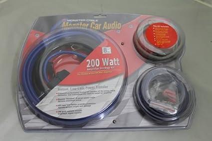 amazon com monster bap 200rs 200 watt 8 gauge amplifire connection rh amazon com Audio Amplifier Kit Amp Wiring Kit