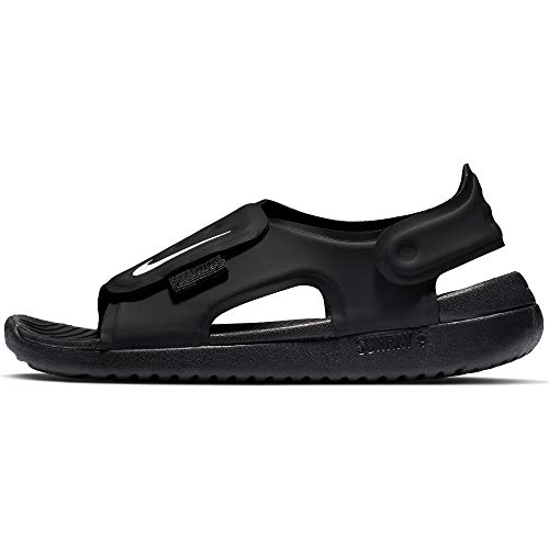 Nike Little/Big Kids' Sunray Adjust 5 Sandal Black/White, Size 11 M US Little Kid by Nike (Image #4)