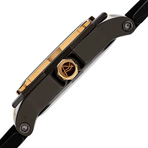 August Steiner Men s Dodecagonal Watch Leather Strap – with Day and Date Window On Smooth Leather Strap – AS8232