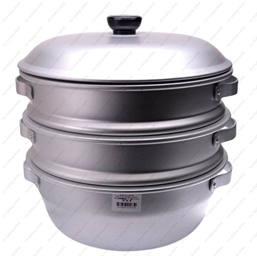 16 inch 3-Tier Aluminum Steamer by Wok Shop by Wok Shop (Image #1)