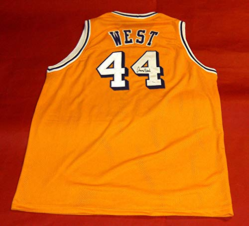 JERRY WEST AUTOGRAPHED LOS ANGELES LAKERS JERSEY JSA