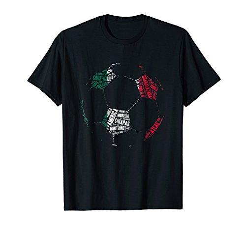 Mens Camiseta Equipos de Futbol Mexico - Mexican Soccer T-Shirt Large Black (Mexico Soccer Tee T-shirt)