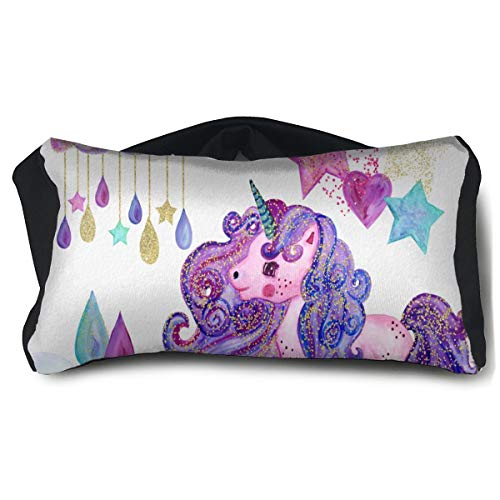 Eye Pillow Watercolor Unicorn Customized Eye Bag Mask Mens Portable Blindfold Sleeping Protection