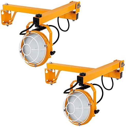 LEONLITE LED Loading Dock Lights 50W, 5000lm, 360 Rotatable Lamp Head, Arm Dock Light, IP65 Waterproof, ETL Listed, Trailers, Docks, Warehouses, Container Pack of 2