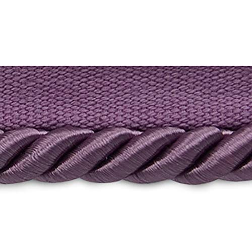 Cord Lip Twisted Trim 3/8 (Hilda 3/8in Twisted Lip Cord Trim Plum (Precut 20 Yard))