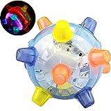 ARTIFUN Pet Toys Light Up Play Balls for Cat Dog Jumping Flashing Bouncing Toy Ball
