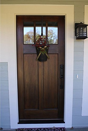 Custom Made Double Exterior Front Entry Single Wooden Glass Door   ITO DOORS
