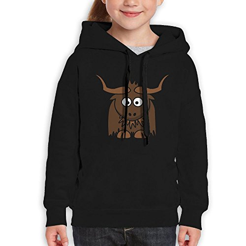 Funny Cartoon Cute Yak Clipartunisex Teenagers Hooded Sweater Infant Cotton Hoodies