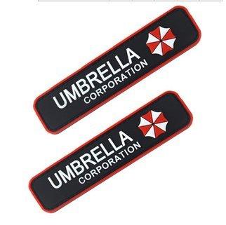 2pcs RESIDENT EVIL UMBRELLA CORPORATION 3D PVC ARMY MORALE CHEST RUBBER VELCRO PATCH
