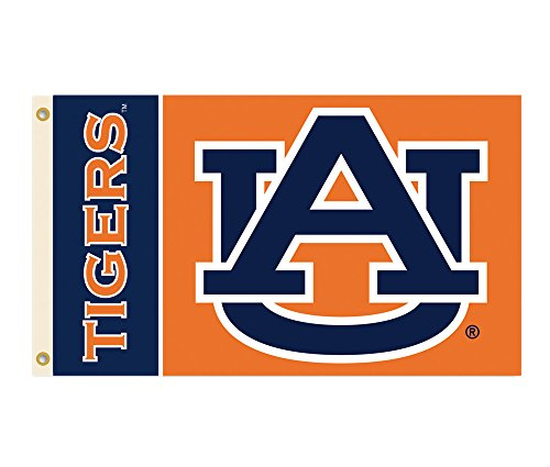 (BSI Sports Team Logo Design Embroidered Decorative Auburn Tigers 2-Sided 3 Ft. X 5 Ft. Flag With Grommets )