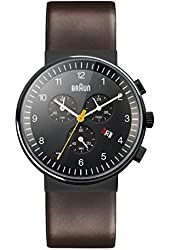 Braun Men's BN0035BKBRG Classic Chronograph Analog Display Japanese Quartz Brown Watch