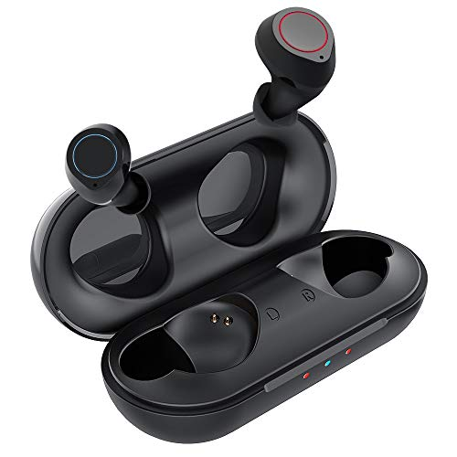 Wireless Bluetooth Earbuds - True Wireless Earbuds Mijiaer Bluetooth 5.0 Wireless Earbuds Headphones Stereo Bass Air Buds 4 Hrs Continuous Playtime in-Ear Earphones 24Hrs with Charging Case IPX5 Waterproof for Airpods