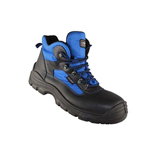 MTS Sicherheitsschuhe  Santos Classic Saphir S2 4315 - Zapatos De Seguridad de piel Unisex adulto negro - Schwarz (Schwarz/Blau)