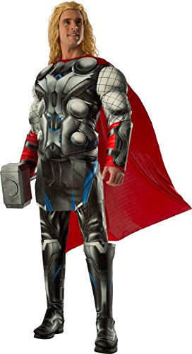 Two Man Costume (Rubie's Costume Co Men's Avengers 2 Age Of Ultron Deluxe Adult Thor Costume, Multi, Standard)