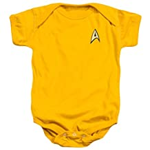 Star Trek TV Series Captain Kirk Command Uniform Baby Infant Romper Snapsuit