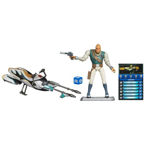 Star Wars The Clone Wars Speeder Bike with Castas ()