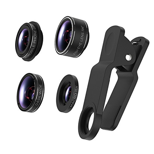 Cell Phone Camera Lens TURATA 2 in 1 Professional HD Camera Lens Kit 0.45X Super Wide Angle & 12.5X...