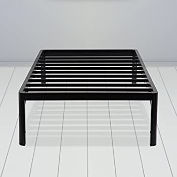 sleeplace 16 inch high profile round edge tall steel slat bed frame ss 3000 twin xl 16 inch tall