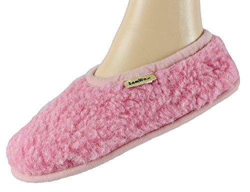 Samwo Para De Casa Estar Ballerinas Rosa Mujer Por Zapatillas Parent Lana 8q6A8wrT
