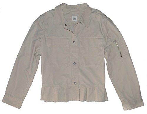 GAP Womens Cream Khaki Twill Peplum Utility Jacket XL - Gap Jean Jacket