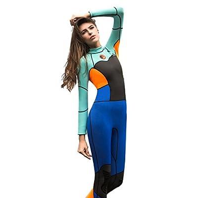 Zerorun Women's 1.5mm Neoprene Slim Keep Warm Full Wetsuit Long Sleeve Diving Surfing Swimwear