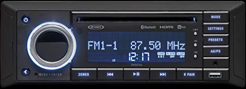 Flat Panel Slimline (Jensen JWM70A Slimline DVD USB AUX HDMI App Ready Bluetooth Wallmount Stereo, 3-Speaker Zone / 8 Speakers Output, Plays: CD, CD-R, CD-RW, DVD, DVD+RW, DVD-RW, DVD-Video, MPEG-4, VCD, JPEG, MP3, WMA)