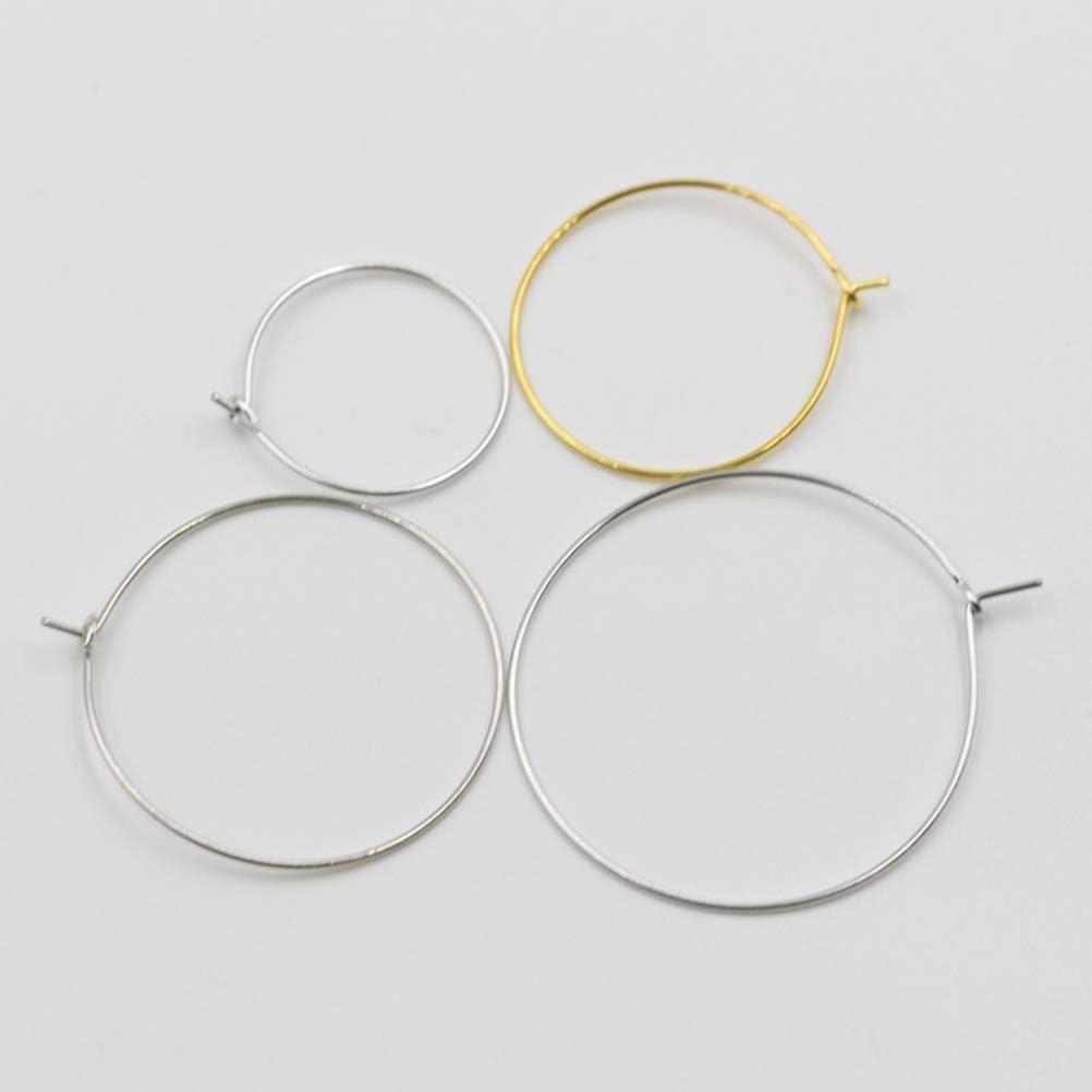 SUPVOX 100pcs 30x25mm Wine Glass Charm Rings Silver Plated Rings Bulk Earrings Hoops DIY Jewelry Accessory