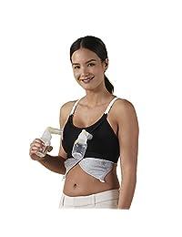 Bravado Designs Women's Maternity Clip and Pump Hands-Free Nursing Bra Accessory, Black, L