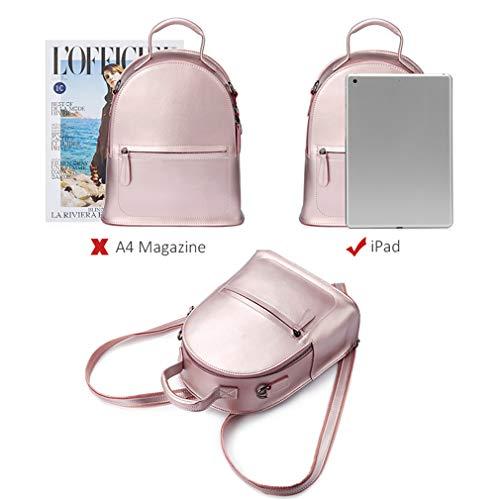 Small Women Bag Split For Anti Teenagers Backpacks Backpack Leather Mini Female Girls silver Hand School Bags pwd8TvO8xq